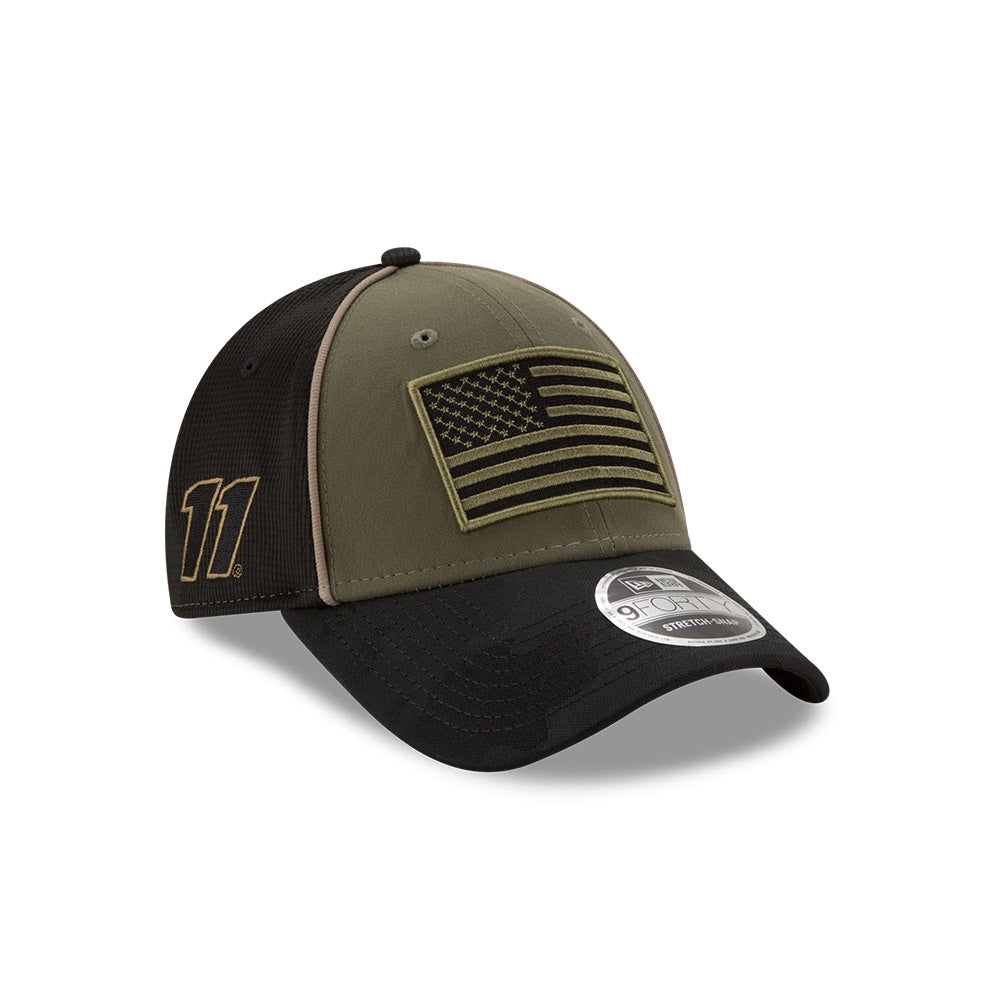 Denny Hamlin 2020 Military Salute New Olive/ Black New Era 940 Hat