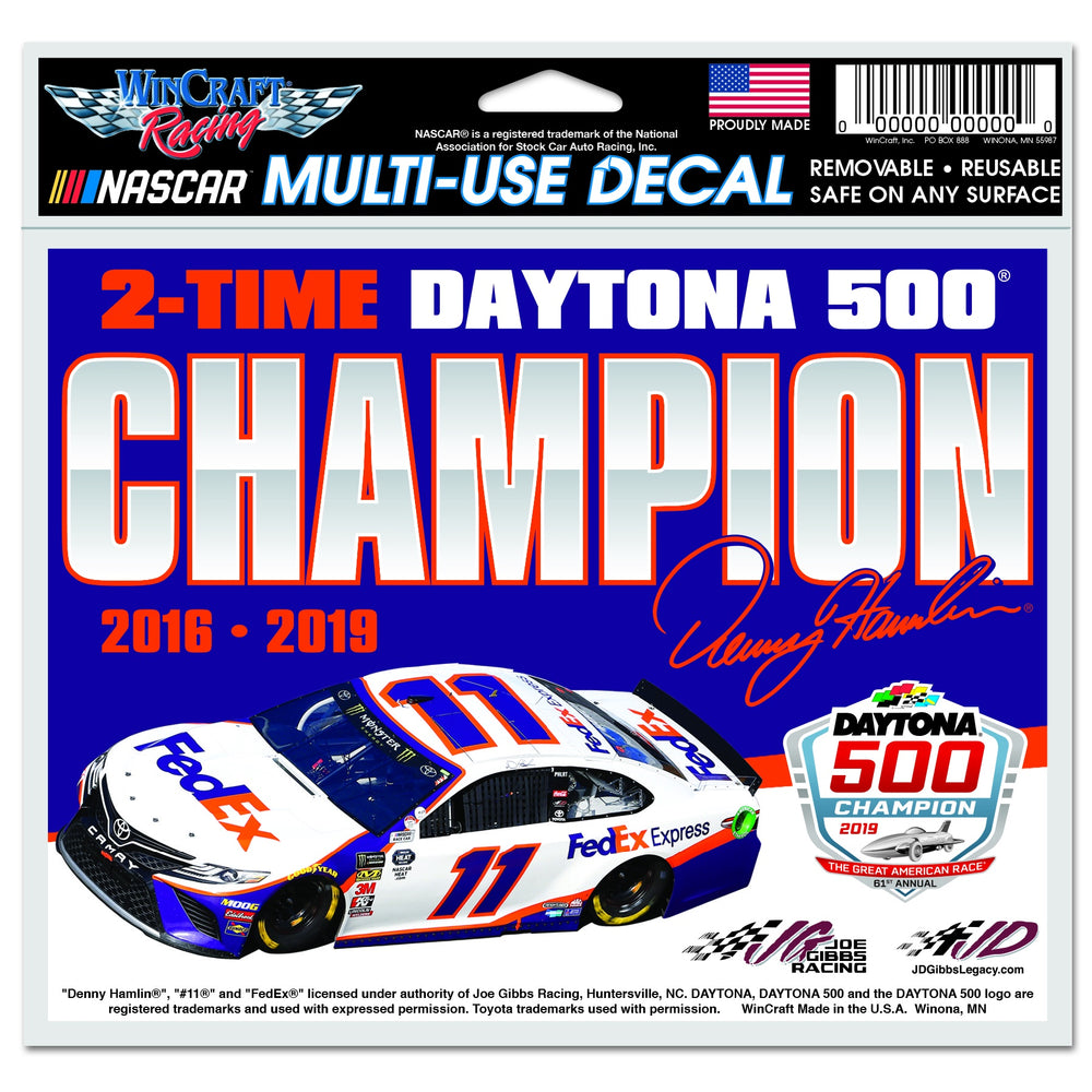 Denny Hamlin FedEx Daytona 500 Champ Multi Use Decal