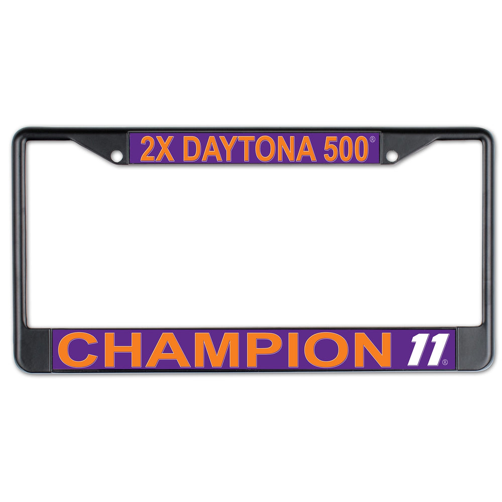 Denny Hamlin 2X Daytona 500 Win Inlaid License Plate Frame
