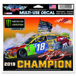 "Kyle Busch 2019 MENCS Champion Multi Use Decal 4.5"" x 6"