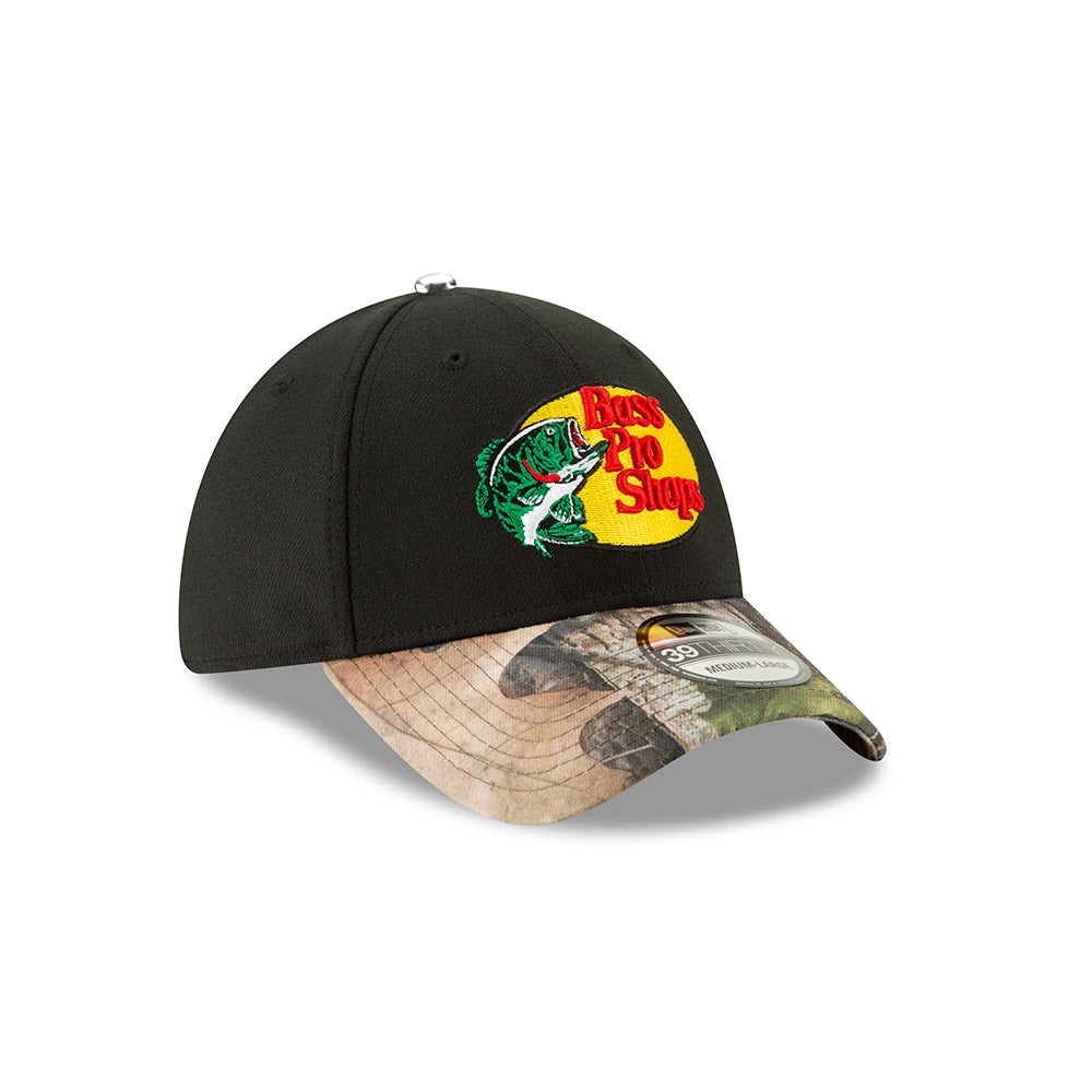 Martin Truex Jr Black Camo Bass Pro Shops New Era 3930 Driver Hat