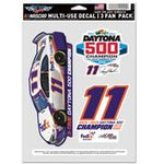 Denny Hamlin 2020 FedEx Daytona 500 Champ Multi Use Decal 3 Fan Pack