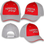 Toyota Racing Red Mini Pique Gray Spandex Cap
