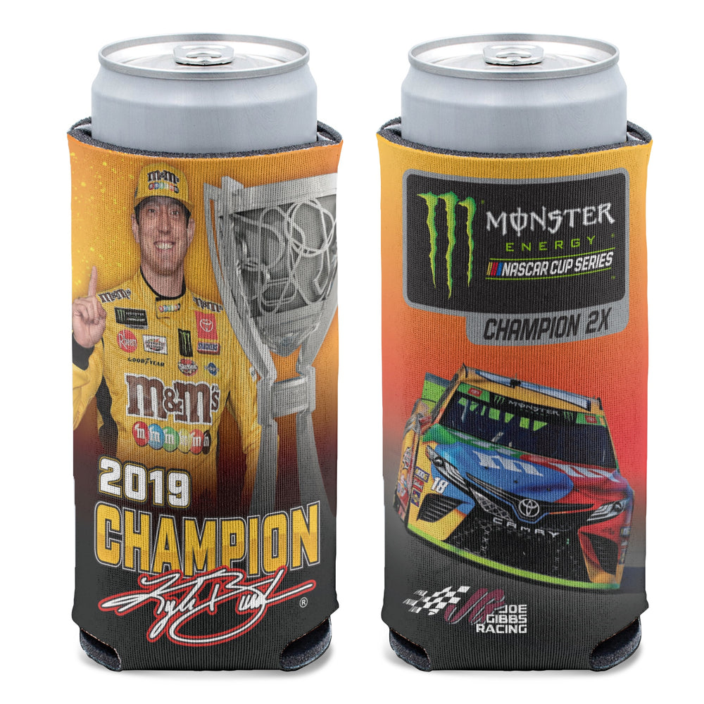 Kyle Busch 2019 MENCS Champion Slim Can Cooler