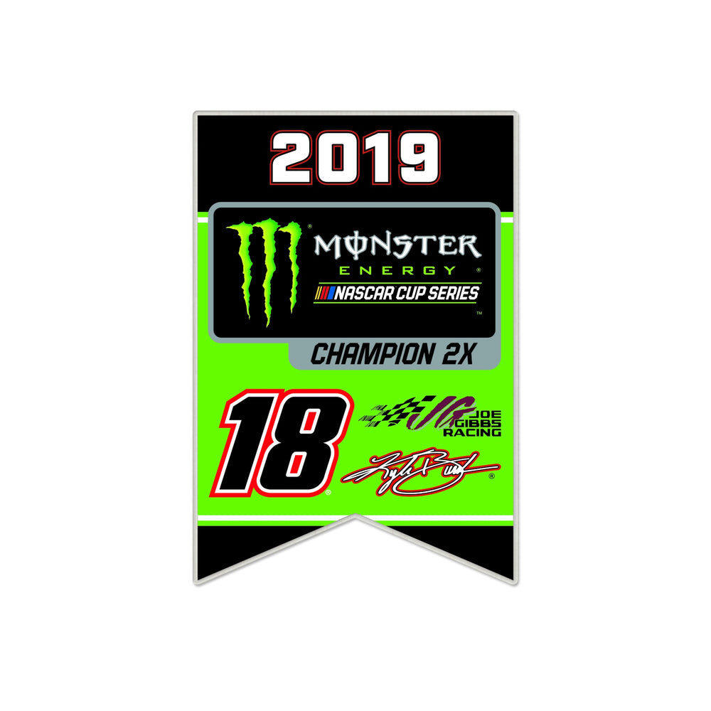 Kyle Busch 2019 MENCS Championship Collector Pin