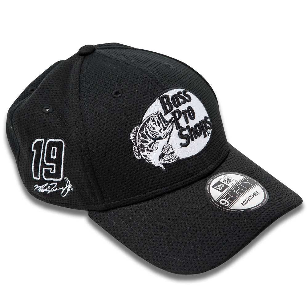 Martin Truex Jr. Bass Pro Shops New Era 940 Black/White Hat