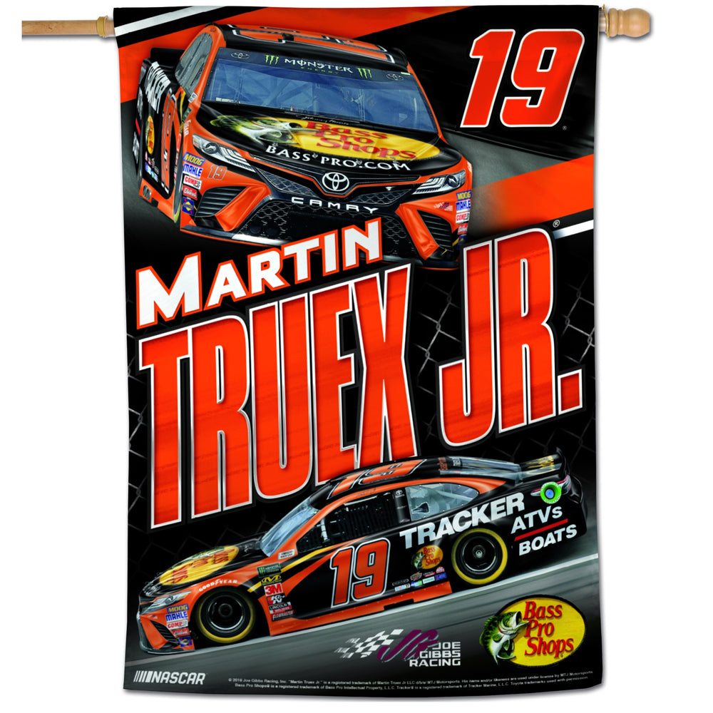 "Martin Truex Jr. Bass Pro 28""x40"" Vertical Flag"