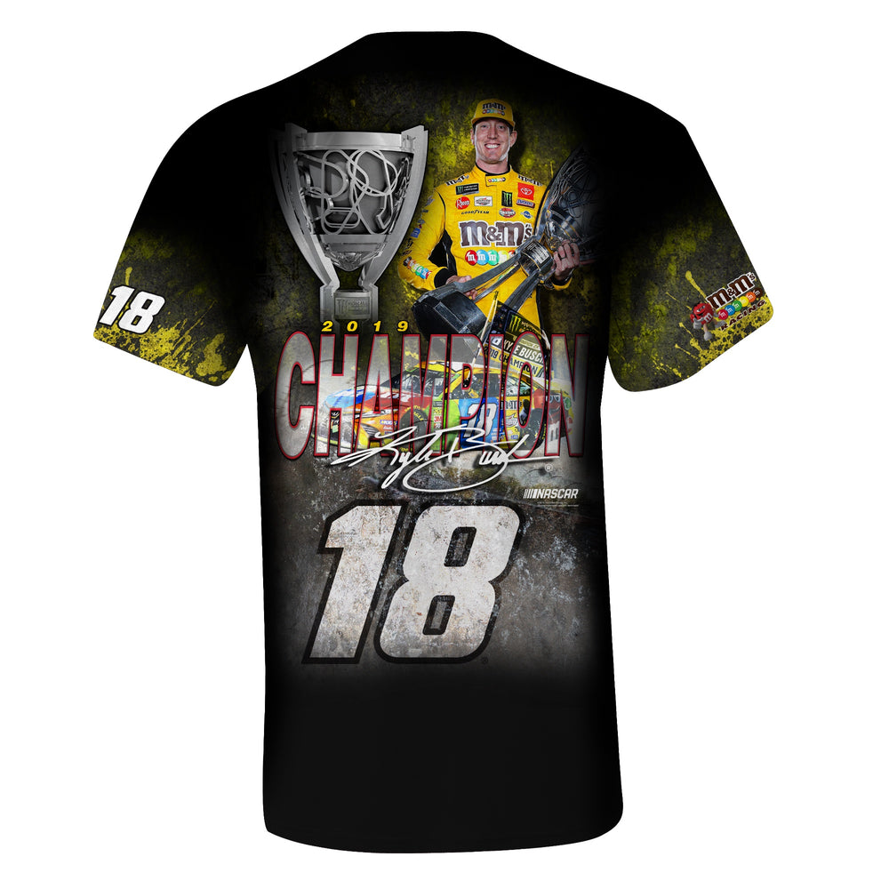 2019 Kyle Busch MENCS Official Champ Sublimated Tee