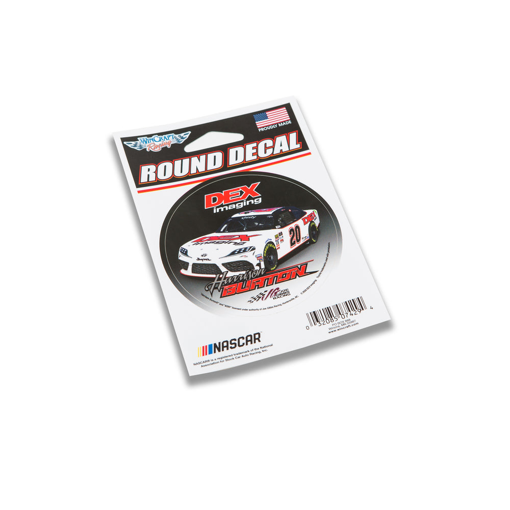 "Harrison Burton DEX Imaging 3"" Round Decal"