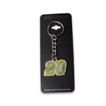 Christopher Bell Pewter Keychain