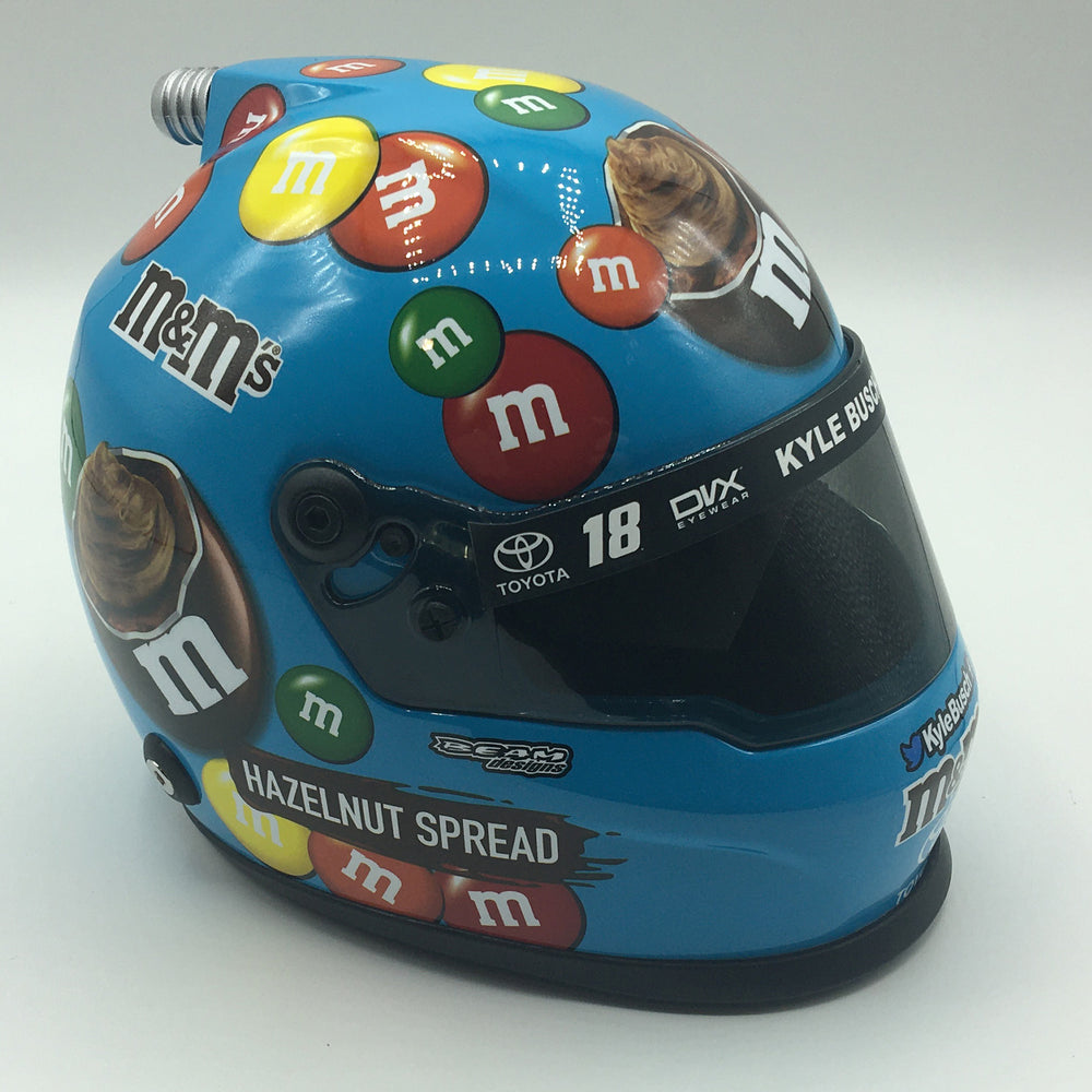 Kyle Busch M&M Hazelnut 2019 Replica Mini Size Helmet