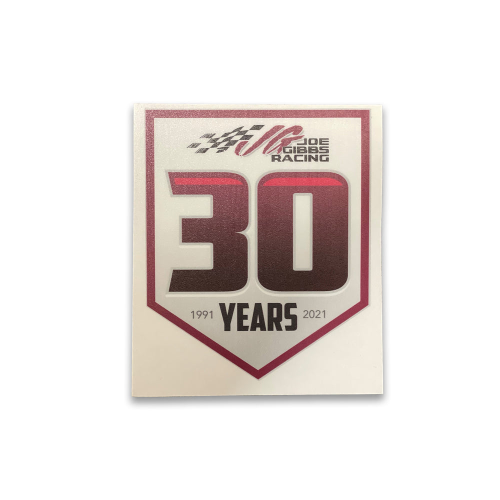 JGR 30th Anniversary Decal