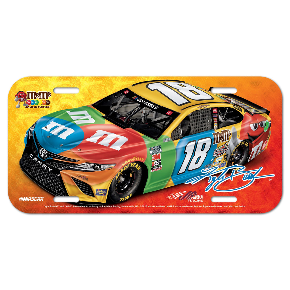 Kyle Busch M&M's License Plate
