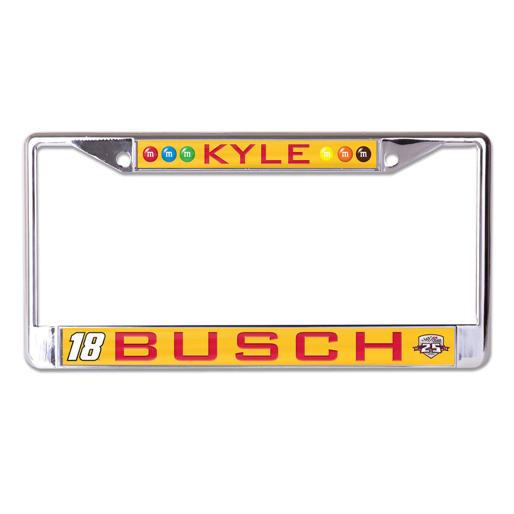Kyle Busch Metal License Plate Frame