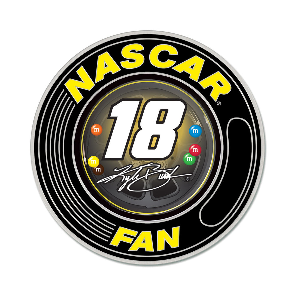 Kyle Busch 18 Fan Hat Pin