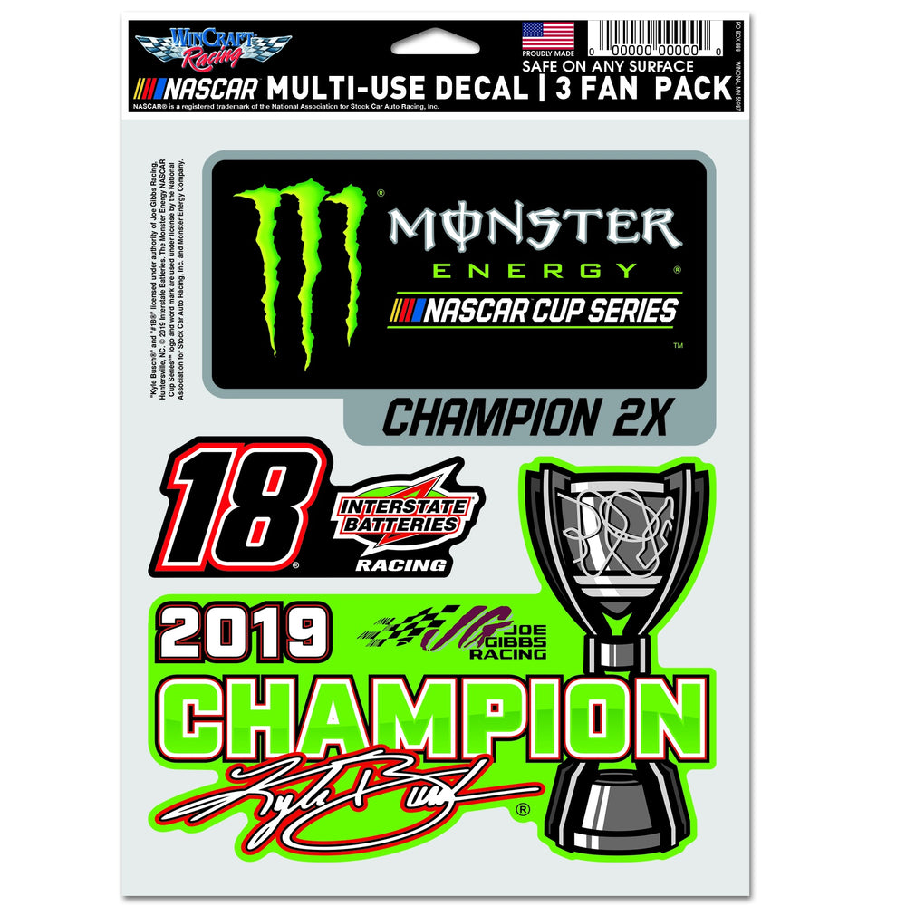 Kyle Busch 2019 MENCS Champion Decal