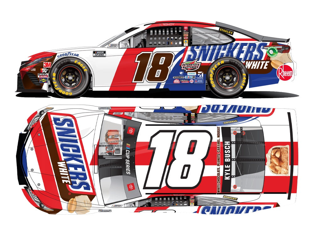 2020 1:64 Kyle Busch Snickers White