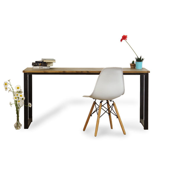rustic solid wood and metal desk absalom classics