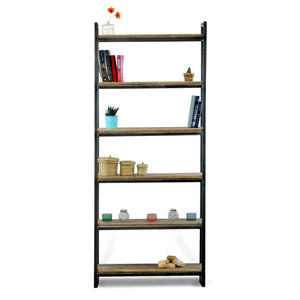 wood and metal bookcase absalom classics