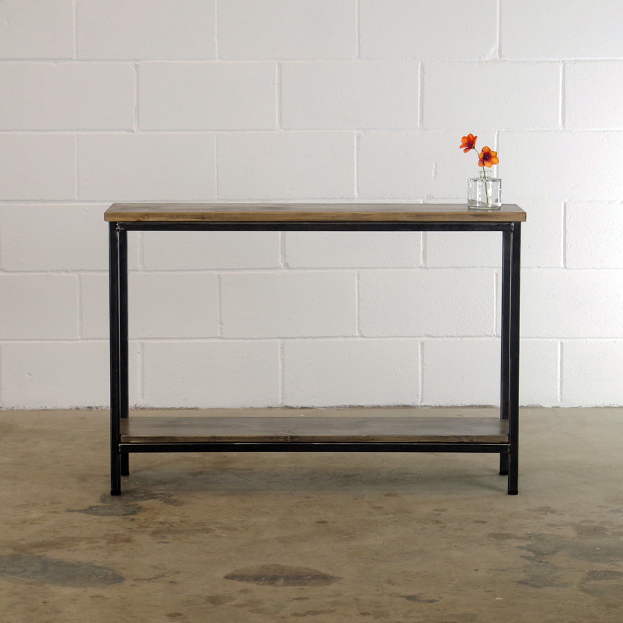 reclaimed wood console hallway table absalom classics