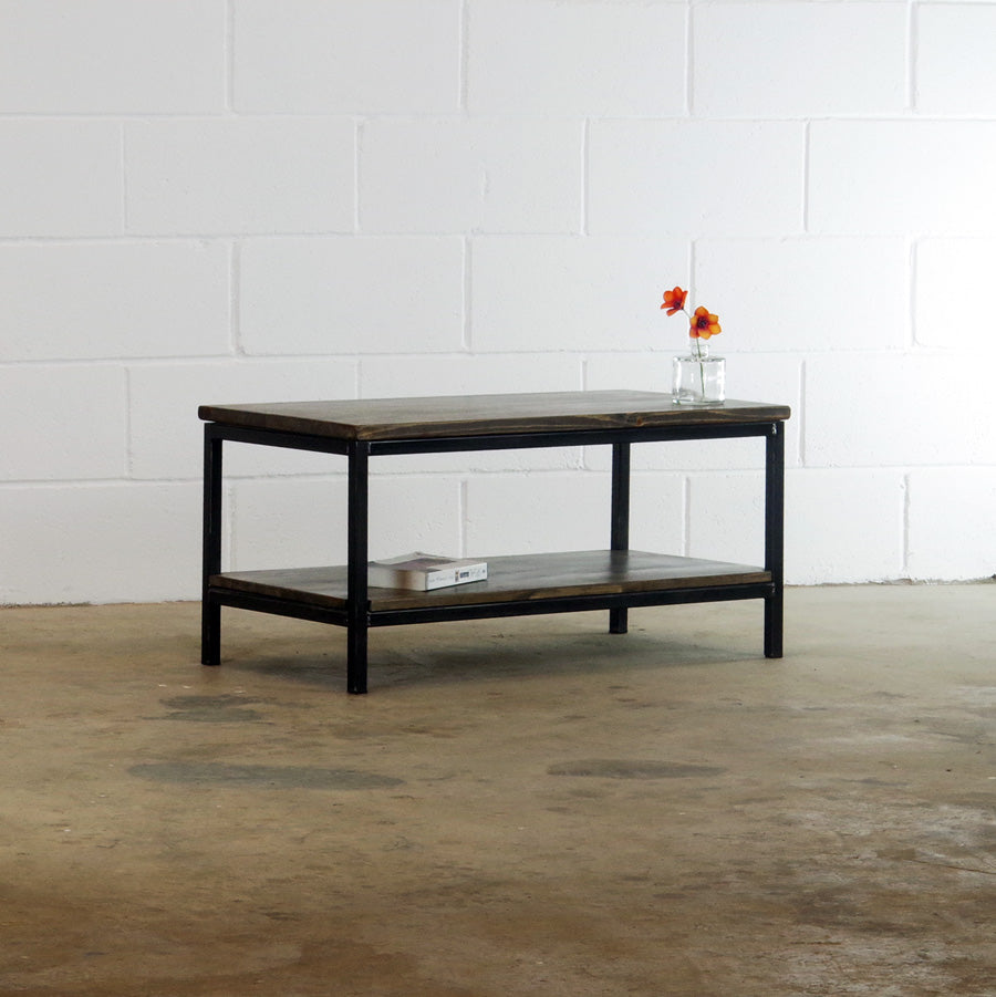 industrial reclaimed wood coffee table