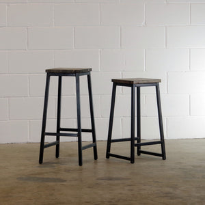 tall and shorter bar stools wood and metal