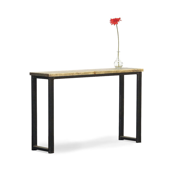 solid industrial console table for hallway