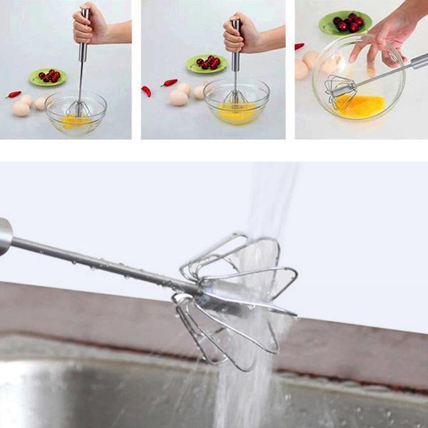 SELF-SPINNING WHISK