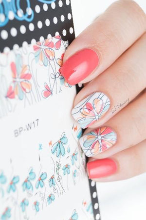 Cute Flower Nail Stickers