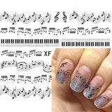 Cute Musical Notes Pattern Nail Art Stamping Plates