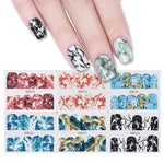 Marble Grain Pattern Nail Art Stamping Plates