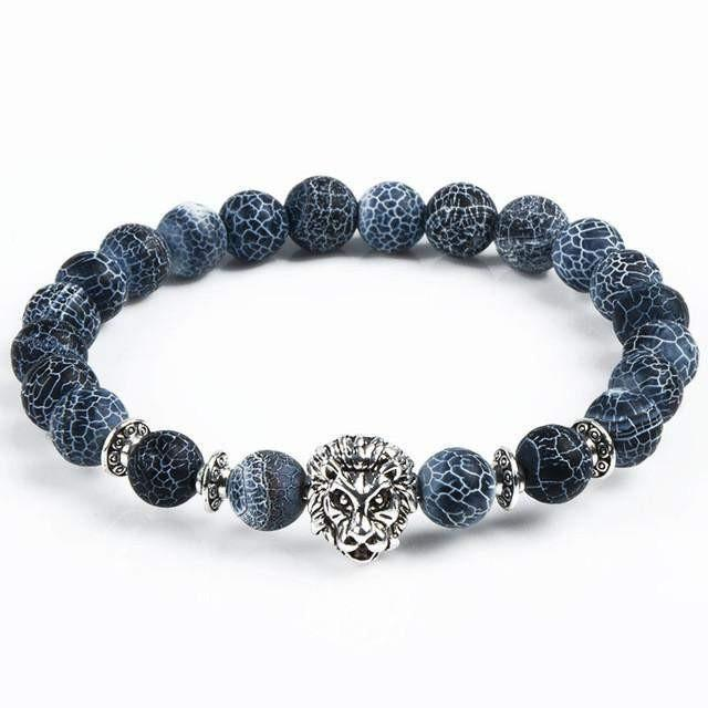 Owl Head Bracelet from Natural Stone