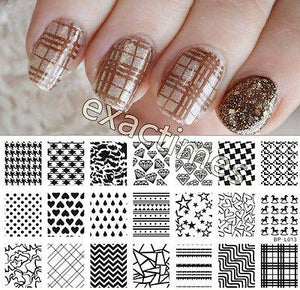 Heart Diamond Nail Art Stamping Plates