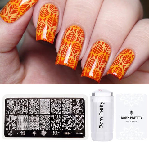 Flower Nail Art Stamping Plates
