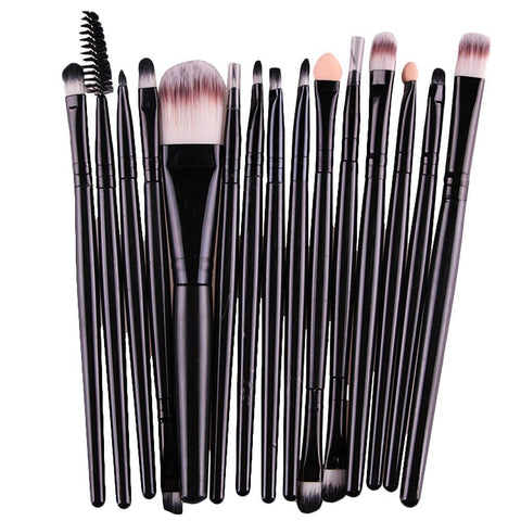 Kit De 15 Pinceaux De Maquillage