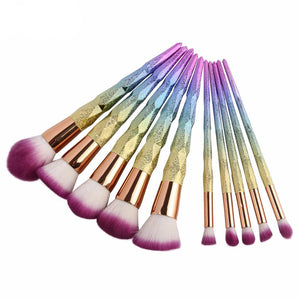 Lot de 10 brosse de maquillage