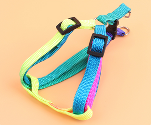 Adjustable Rainbow Colored Small Dog Harness