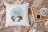 Angle Pose Yoga Cat Pillow
