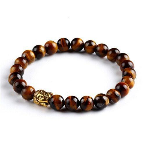 Tigers Eye Buddha Charm Energy Bracelet