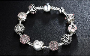 Antique Silver Beads Bracelet