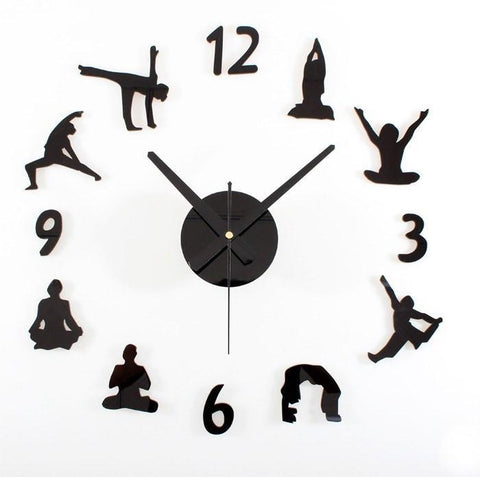 Creative Yoga Wall Clock