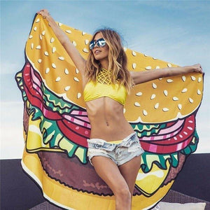 Burger Pizza Donut Beach Tapestry