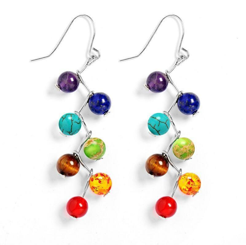 7 Chakra Healing Balance Drop Earrings