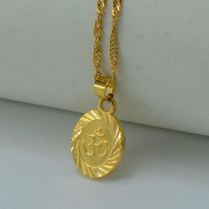 Om 18k Gold Filled Plated Necklace