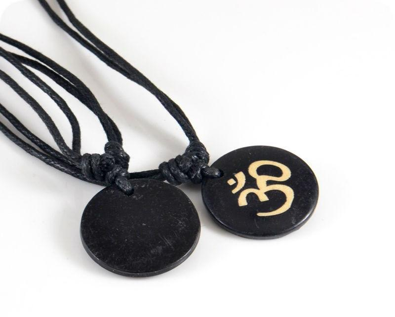 Om Hindu Yak Bone Lucky Necklace