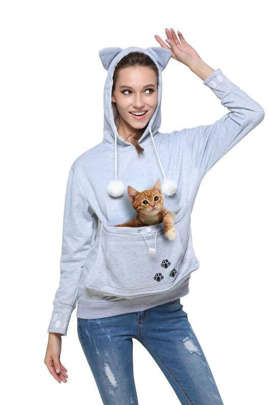 Cat/Dog Ears Pouch Sweatshirt