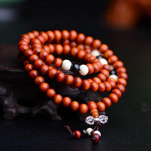 108 Natural Rosewood Beads Bracelet - 4 colours