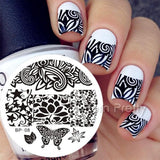 DIY Bountiful Butterfly Nail Art Stamping Plate