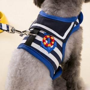 Navy-Style Adjustable Dog Harness and Leash Set