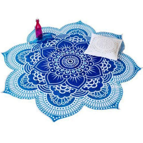 Lotus Mandala Indian Tapestry